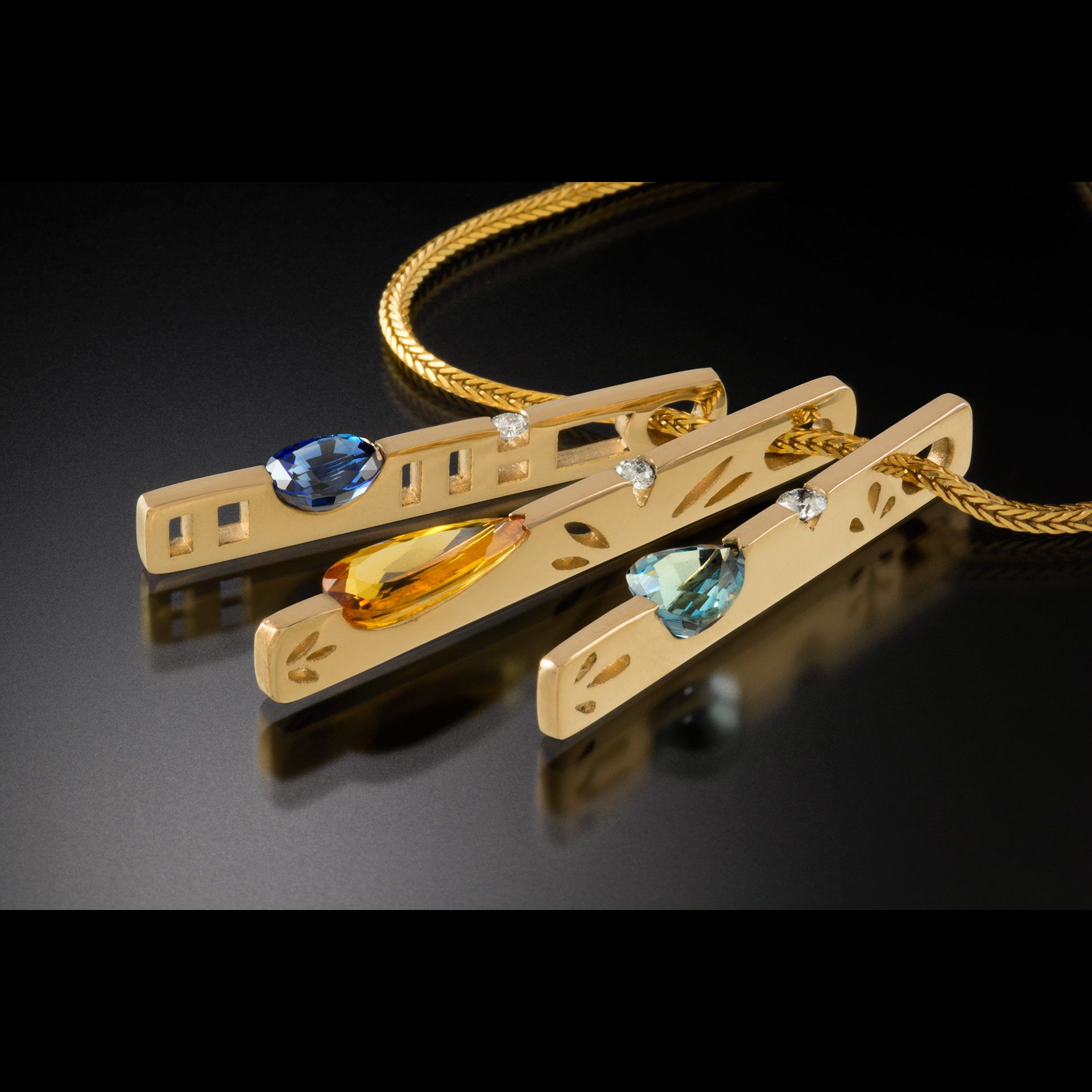 Berry Goldsmiths Scott J Berry Handcrafted custom 14K and 18K